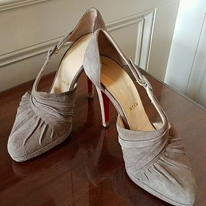 Christian Louboutin d'Orsay suede heels